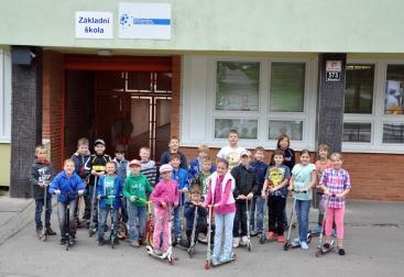 Zacatek kampane Had Eda ZS Armenska Brno - kolobezkari